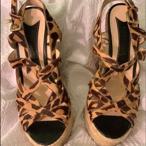 Boutique 9 leopard wedges